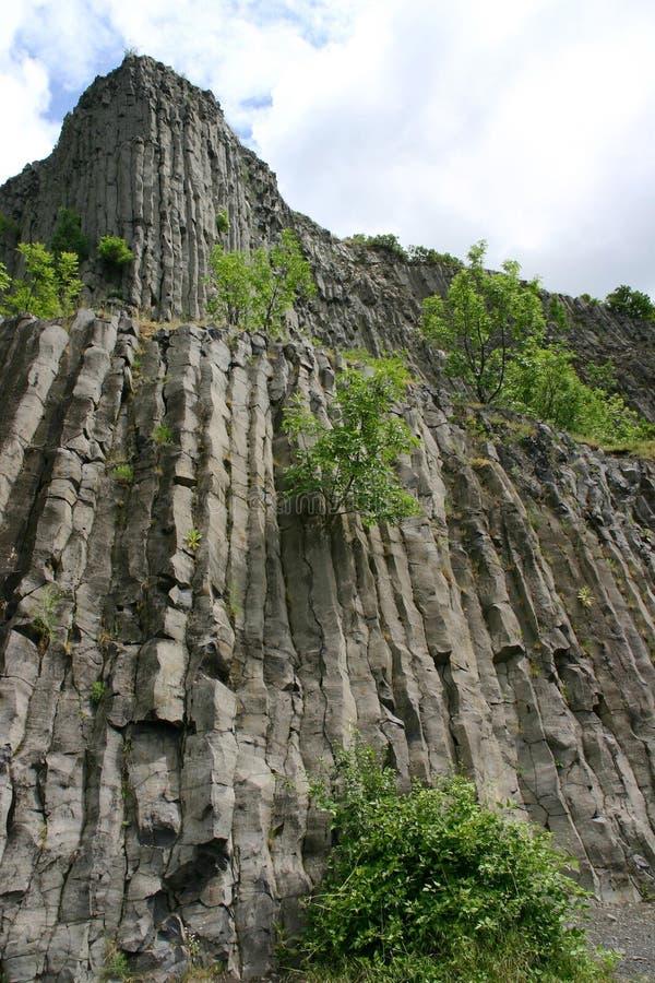 vulcan的玄武岩 免版税库存照片