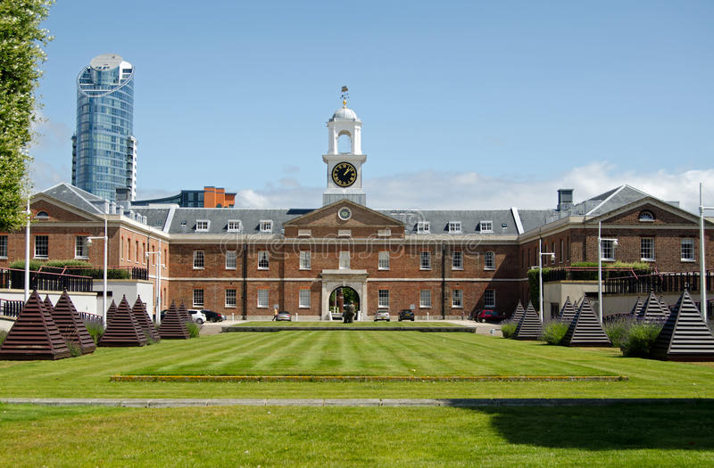 Download Vulcan Building, Gunwharf Quays, Portsmouth Stock Photo - Image: 35001784