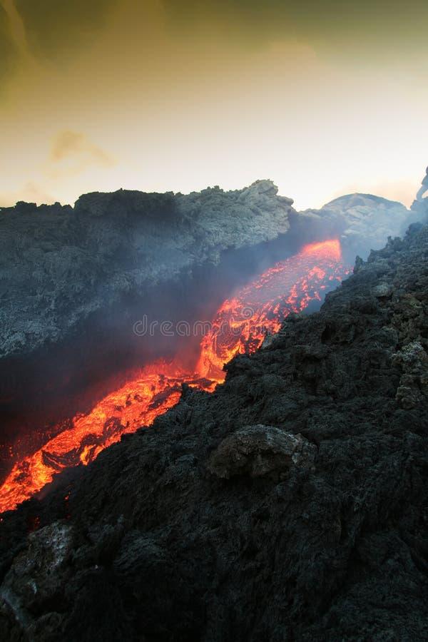 vulcan lava royaltyfri fotografi