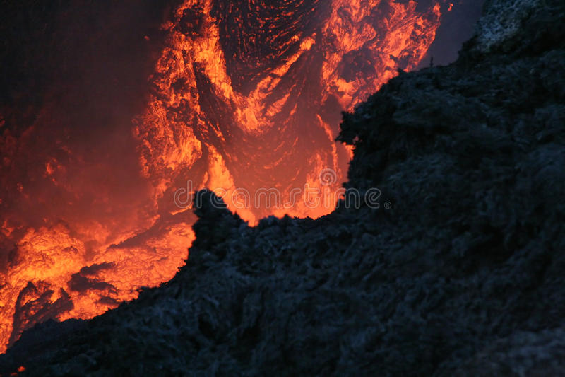 vulcan lava fotografering för bildbyråer