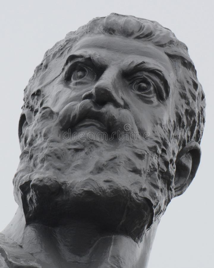 Vulcan, Roman God del fuego y del primer de la fragua foto de archivo