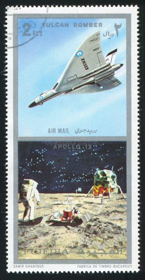 Vulcanbommenwerper en Apollo stock fotografie