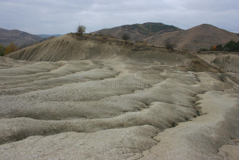 Vulcani del fango a Berca fotografia stock libera da diritti