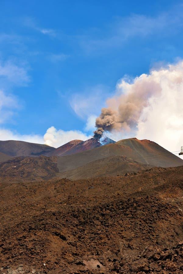 Vulcani di Etna immagini stock libere da diritti