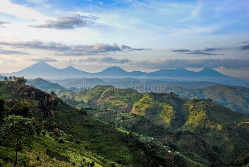 Vulcani di Virunga immagini stock libere da diritti