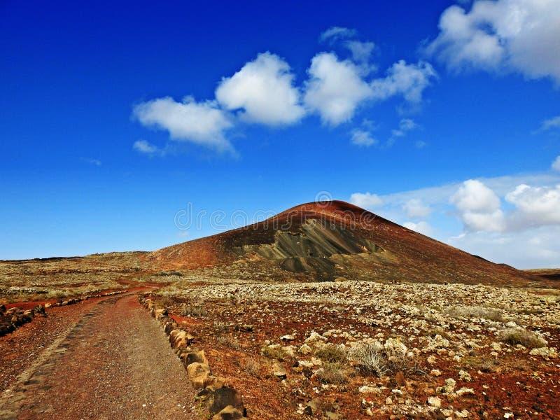 Vulcanic hike stock photo