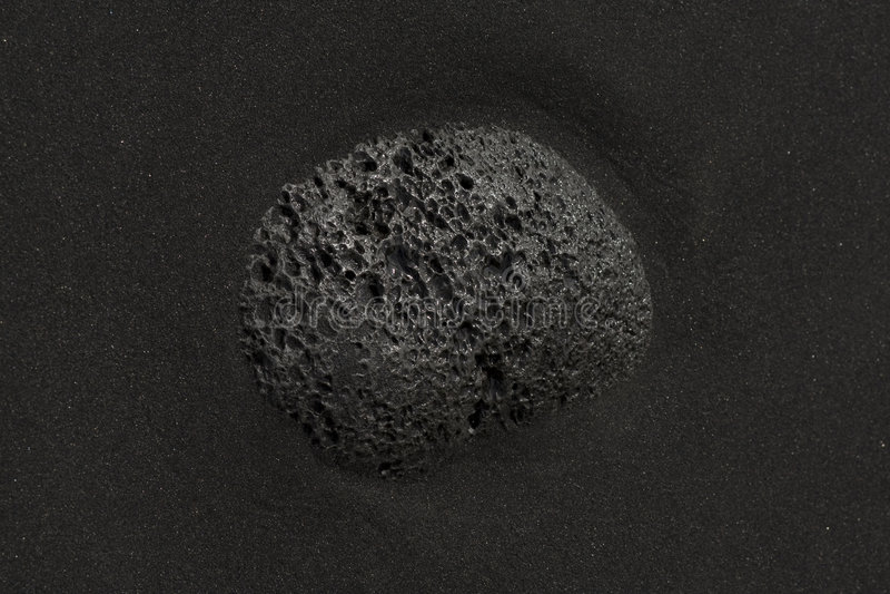 Vulcanic stone stock image