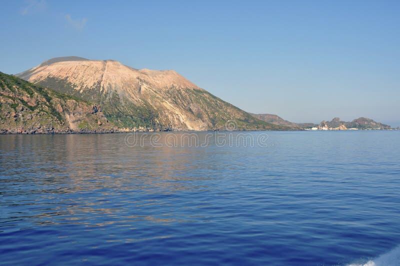 vulcano Сицилии острова стоковое фото