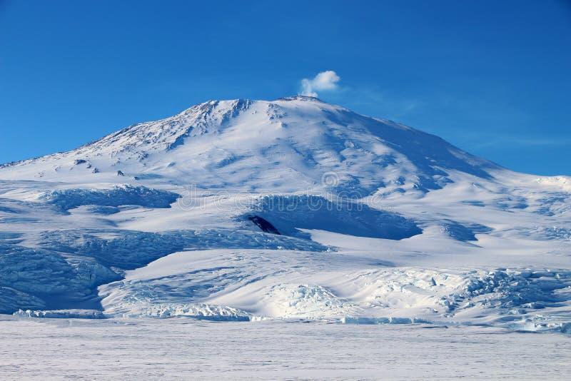 Vulcano antartico fotografia stock