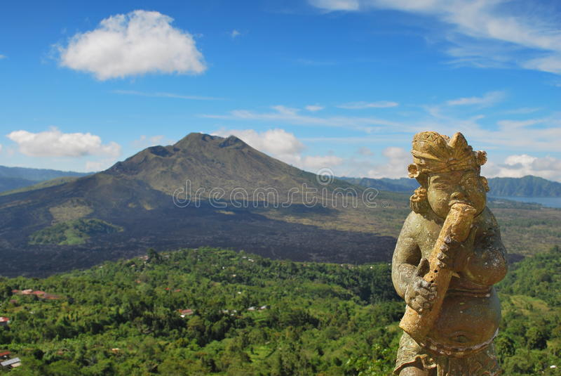 Vulcano del Bali immagine stock