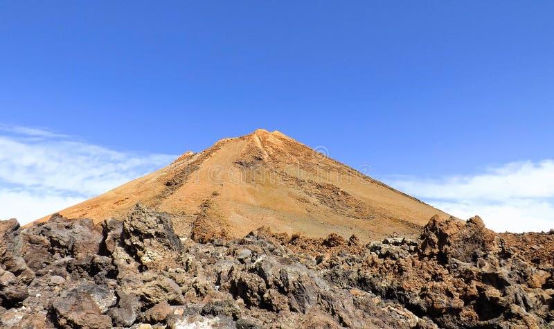 Vulcano del deserto fotografia stock libera da diritti