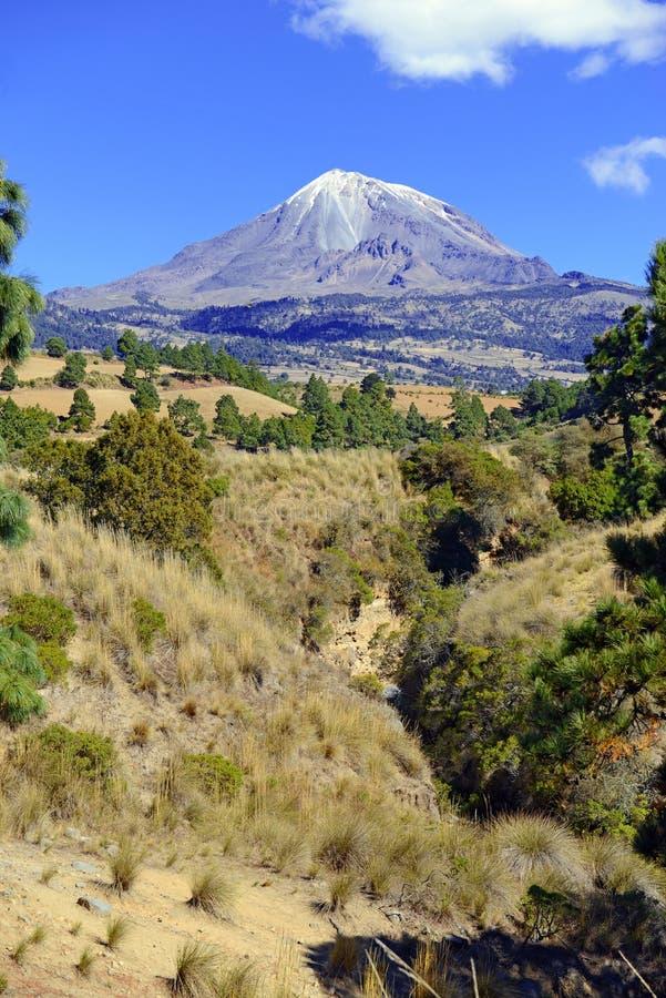 Vulcano del Pico de Orizaba, Messico fotografie stock libere da diritti