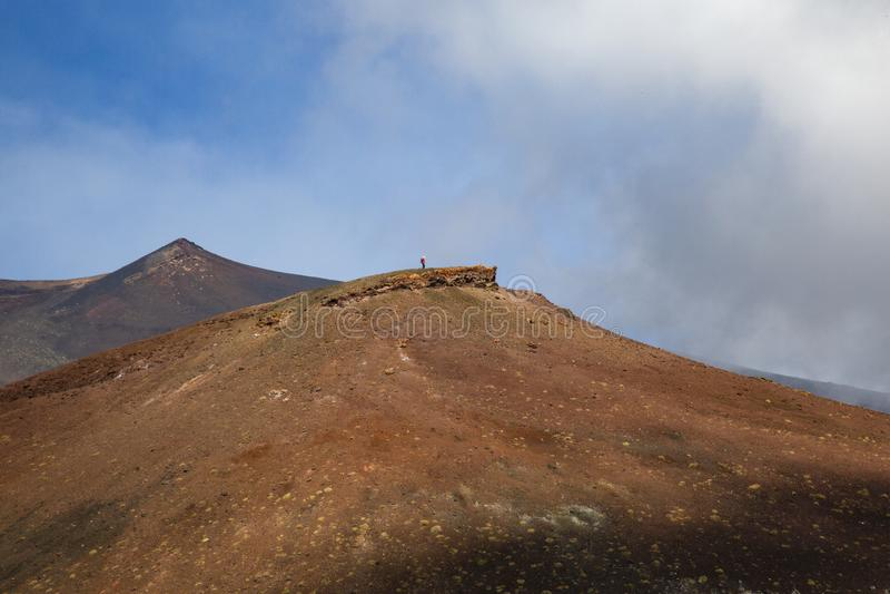 Vulcano dell'alpinista immagine stock