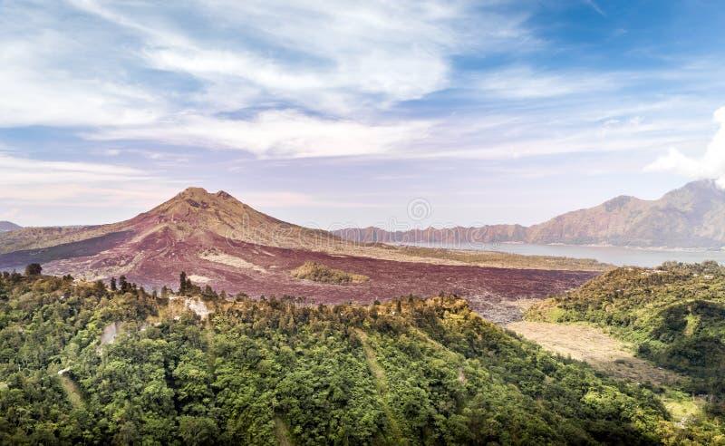 Vulcano di Batur, Bali immagine stock libera da diritti