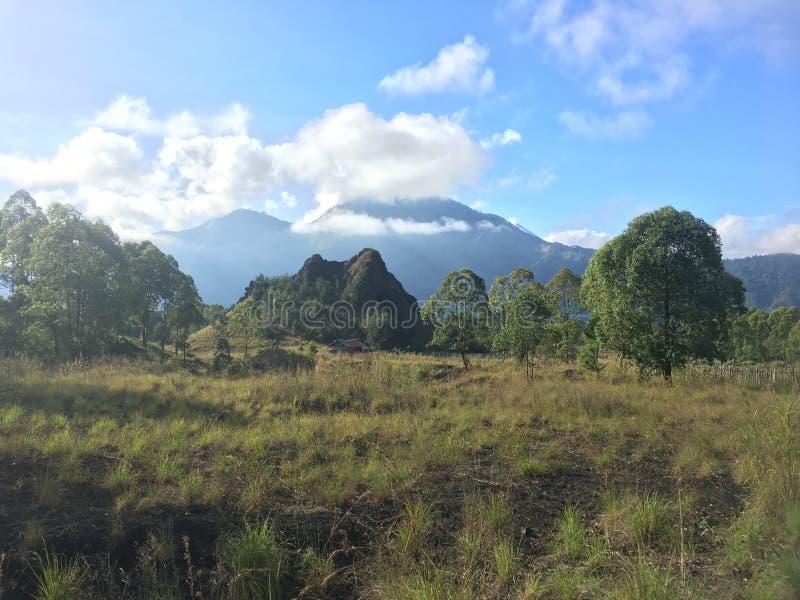 Vulcano di Batur del supporto fotografia stock
