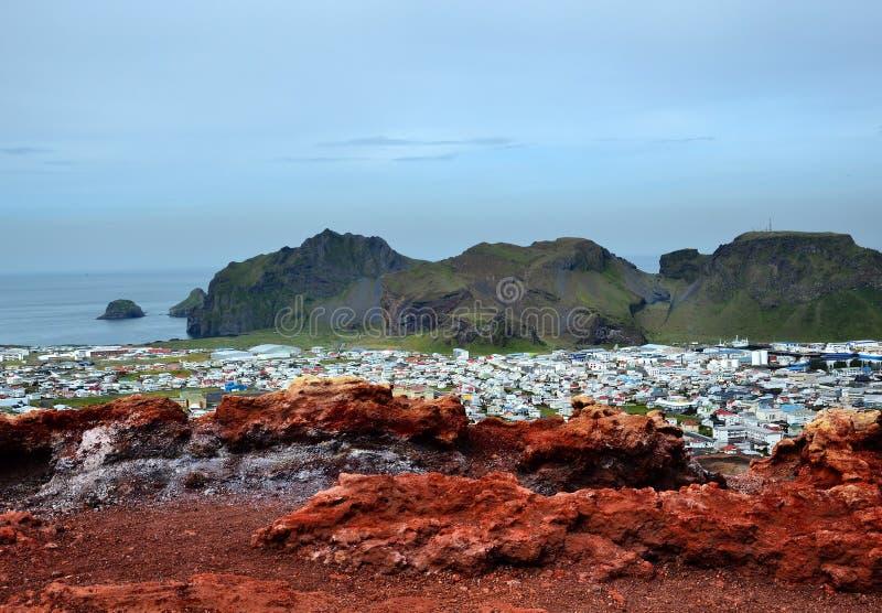 Vulcano di Heimaey fotografie stock libere da diritti