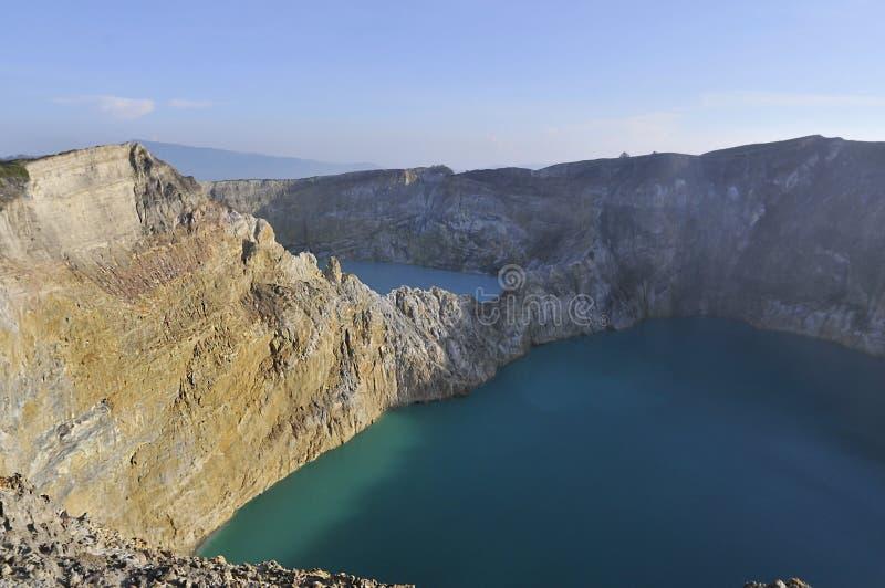 Vulcano di Kelimutu fotografie stock libere da diritti