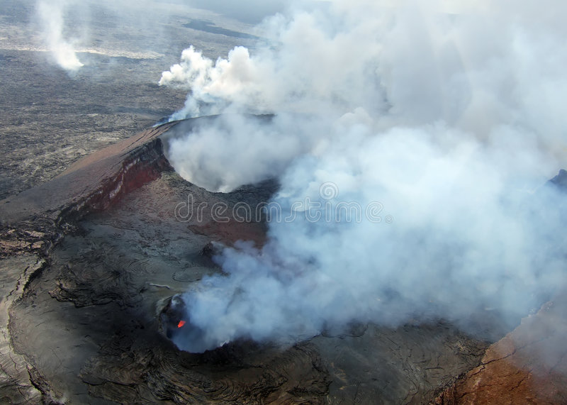 Vulcano di Kilauea fotografie stock