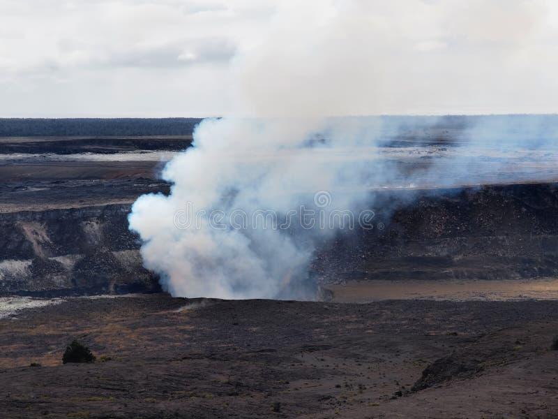 Vulcano di Kilauea, cratere di Halema'uma'u fotografia stock libera da diritti