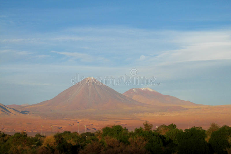 Vulcano di Licancabur fotografia stock