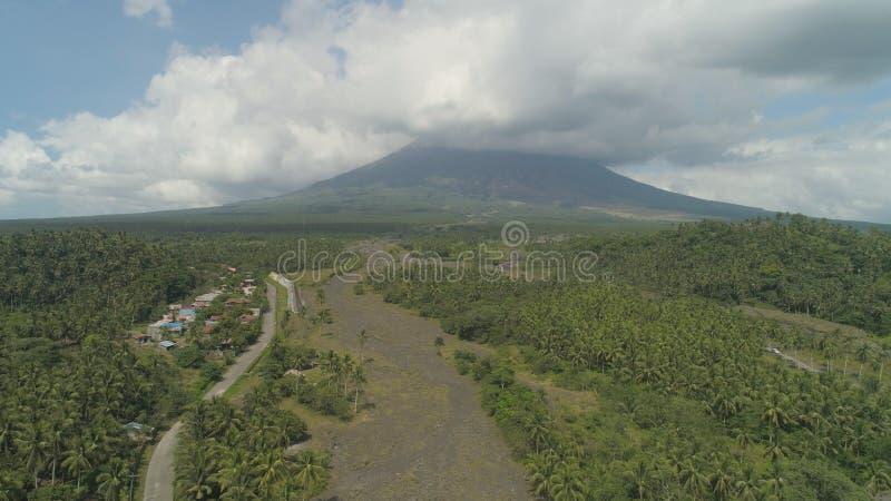 Vulcano di Mayon del supporto, Filippine, Luzon fotografia stock libera da diritti