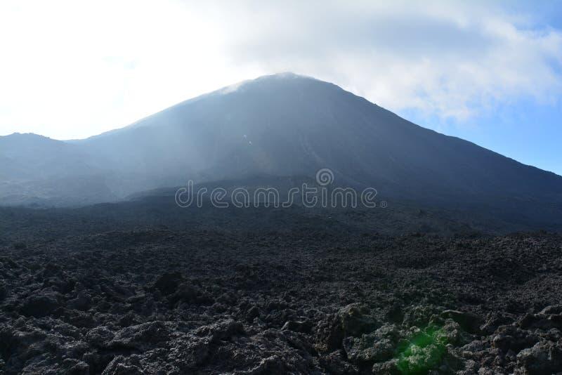Vulcano di Pacaya vicino all'Antigua Guatemala immagini stock libere da diritti