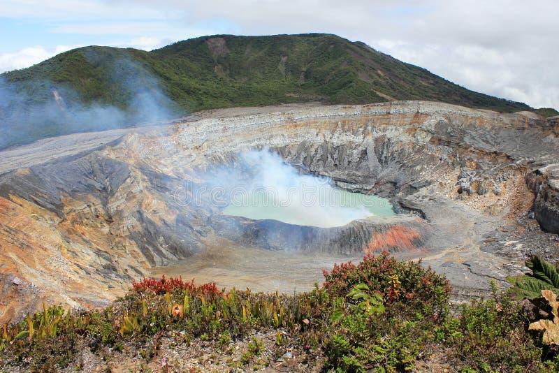 Vulcano di Poas in Costa Rica fotografia stock