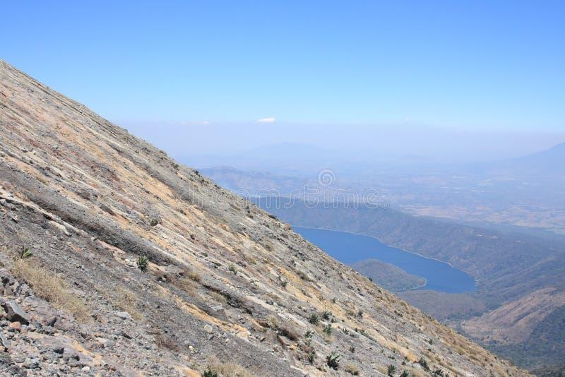 Vulcano di Santa Ana e lago Coatepeque, El Salvador immagine stock libera da diritti
