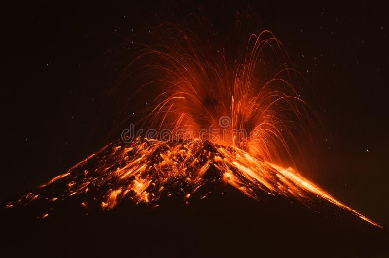 Vulcano Ecuador di Tungurahua immagine stock libera da diritti