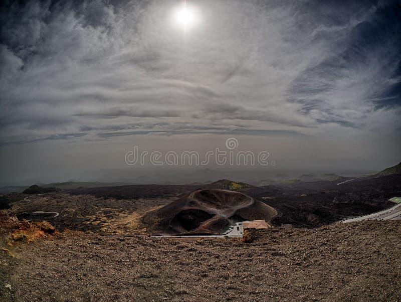 Vulcano el Etna fotografía de archivo libre de regalías