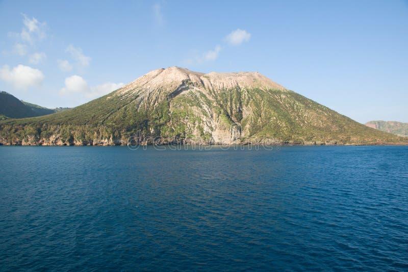 Vulcano eoliska öar, Italien arkivbild
