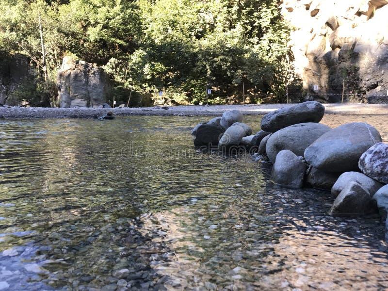 Vulcano flod royaltyfri bild