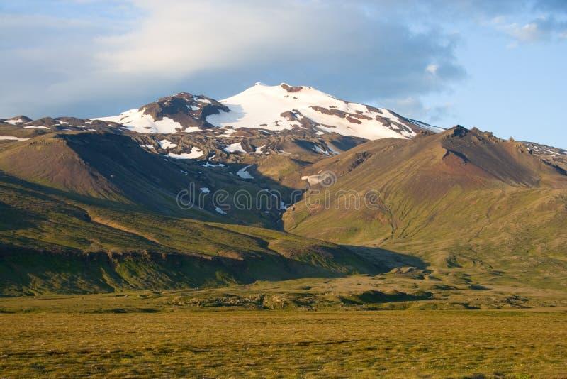 Vulcano islandese immagine stock libera da diritti