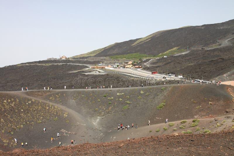 Vulcano-Landschaft lizenzfreie stockfotografie
