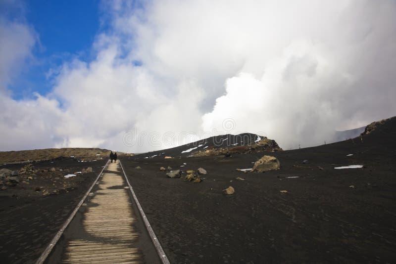 Vulcano nel Giappone immagini stock libere da diritti