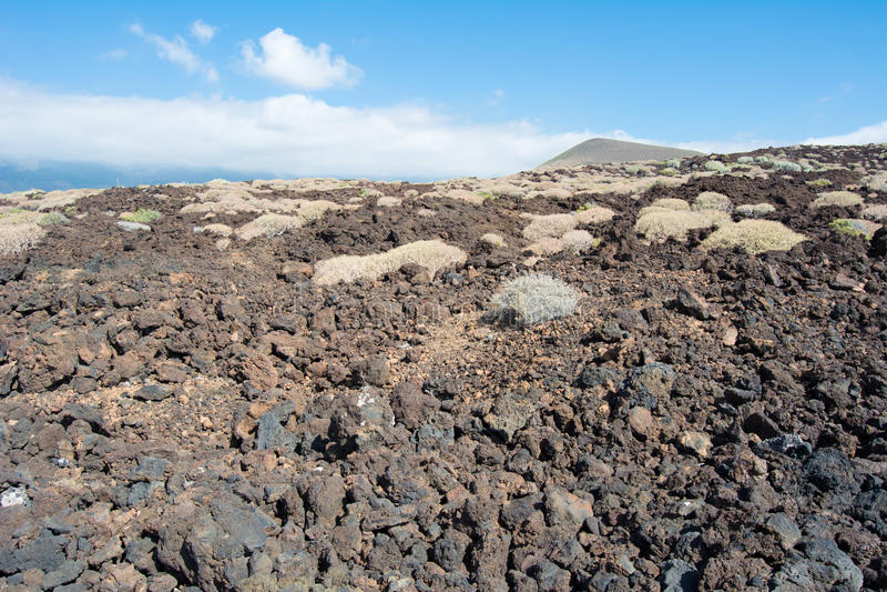 Vulcano in Tenerife stock photo