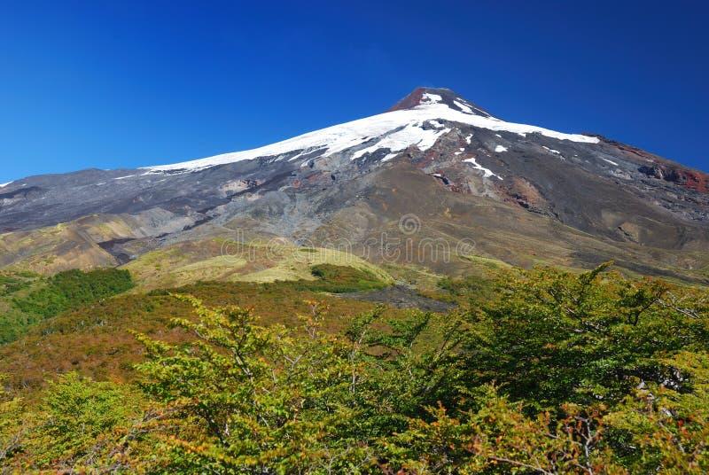 Vulcano Villarrica fotografia stock libera da diritti