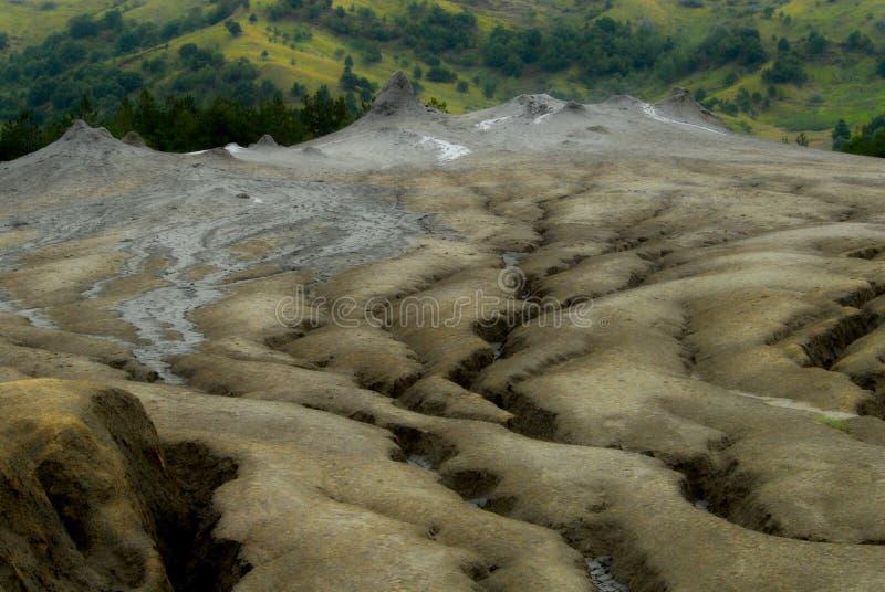 Vulcanoes грязи стоковое изображение