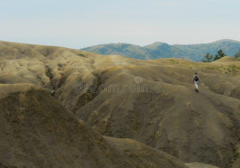 Vulcanoes da lama fotografia de stock