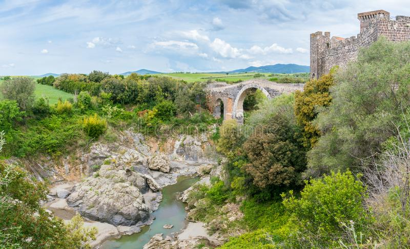 Vulci, sitio etruscan antiguo en la provincia de Viterbo, Lazio, Italia central imágenes de archivo libres de regalías