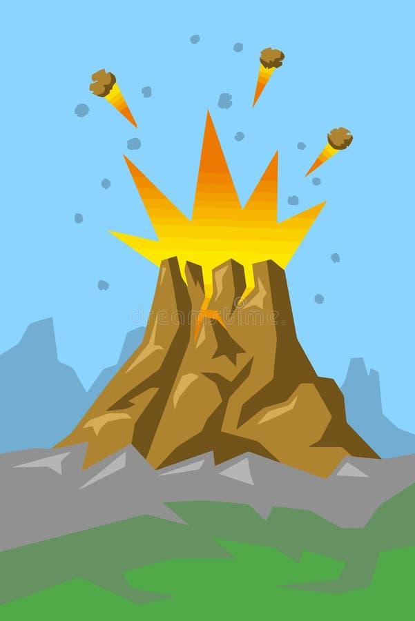Vulkaan 01 vector illustratie