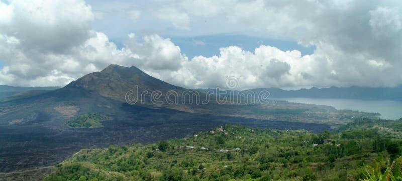 Vulkaan bij het eiland van Bali royalty-vrije stock foto