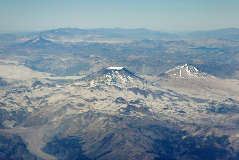 Vulkaan in Chili stock foto's