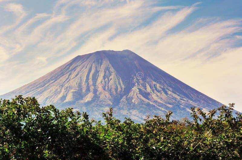 Vulkaan in Nicaragua royalty-vrije stock fotografie