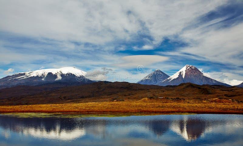Vulkaan van Kamchatka, Rusland stock afbeelding