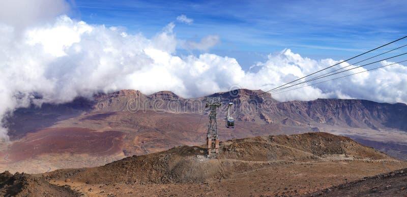 Vulkaanmonding Teide in Tenerife stock foto