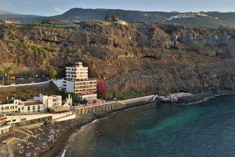 Vulkaanmonding Teide in Tenerife stock foto's