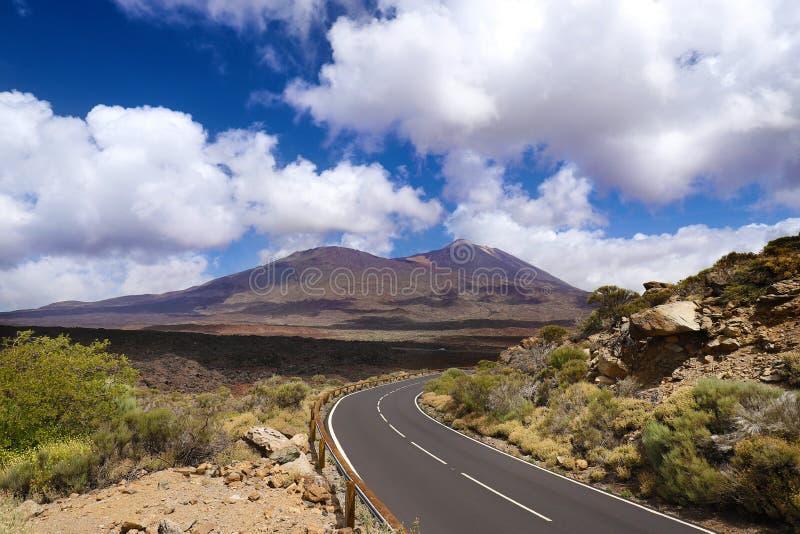 Vulkaanmonding Teide in Tenerife stock afbeeldingen