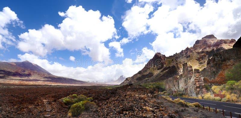 Vulkaanmonding Teide in Tenerife stock afbeelding
