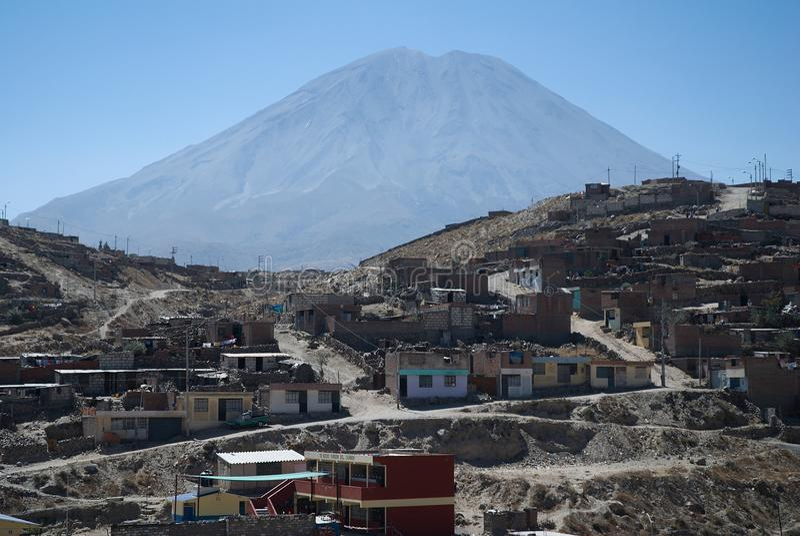 Vulkan El Misti, Arequipa, Peru royaltyfria foton